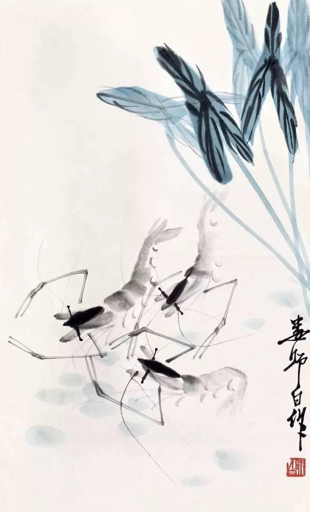 """画""""虾""""不只有齐白石,名家笔下的虾各有滋味"""