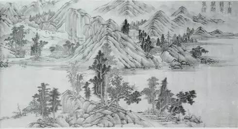 董源 潇湘图_唐宋,山水画50幅(1) - 中国书画网