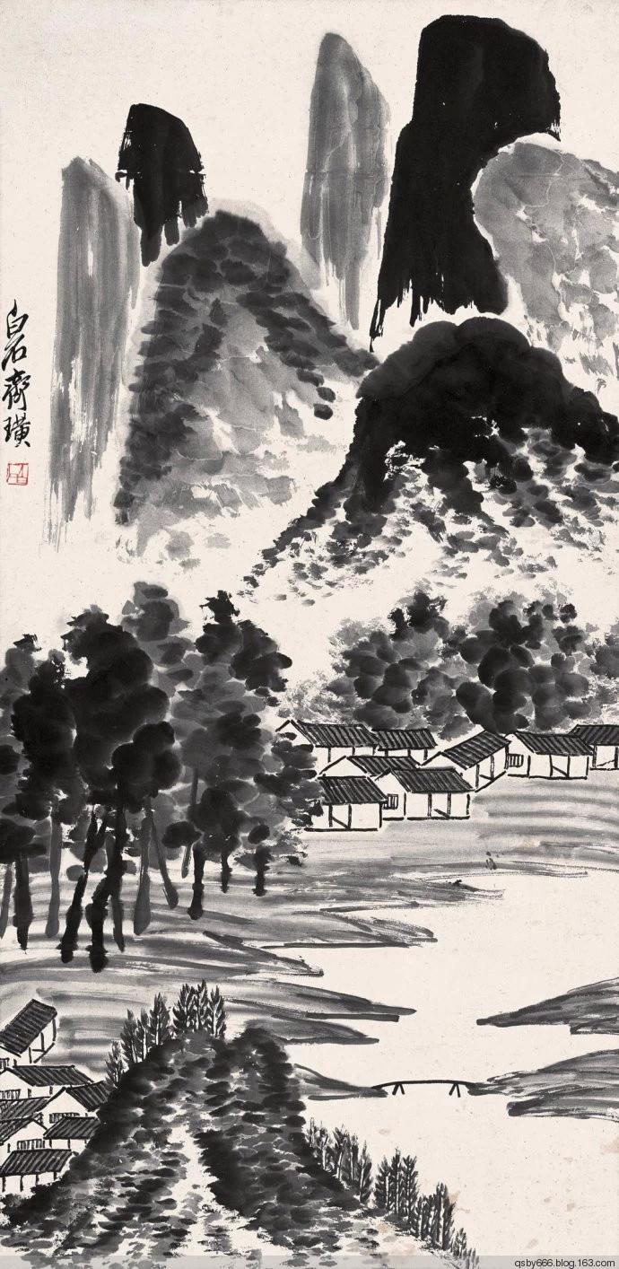 齐白石的山水画
