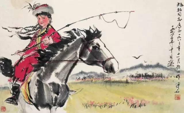 尹瘦石画马