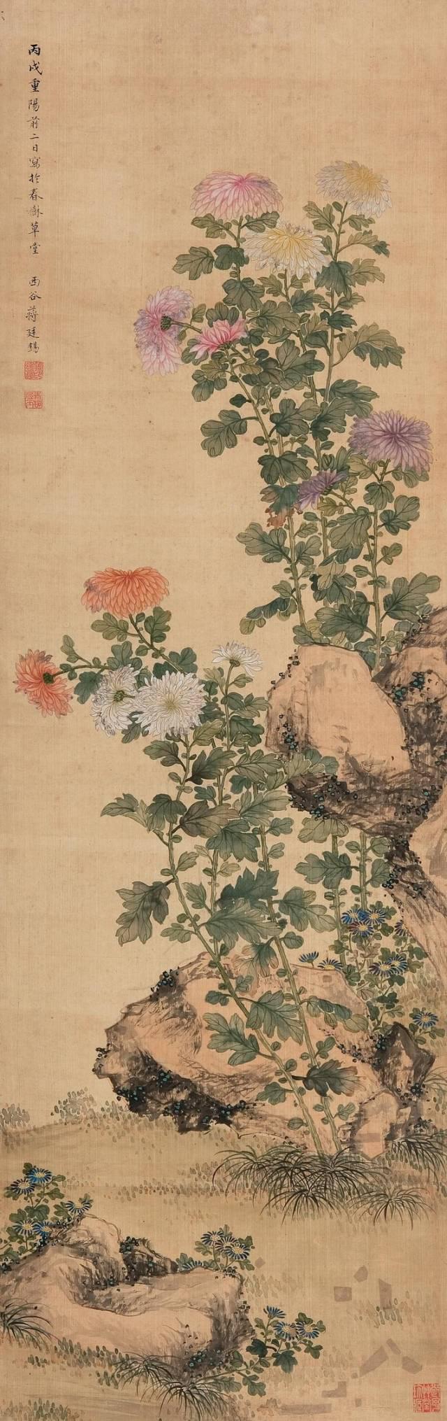凌霜飘逸,历代名家笔下的菊