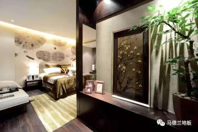 新中式风格搭配深色木地板