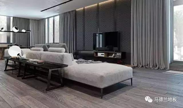 现代风格搭配深色木地板