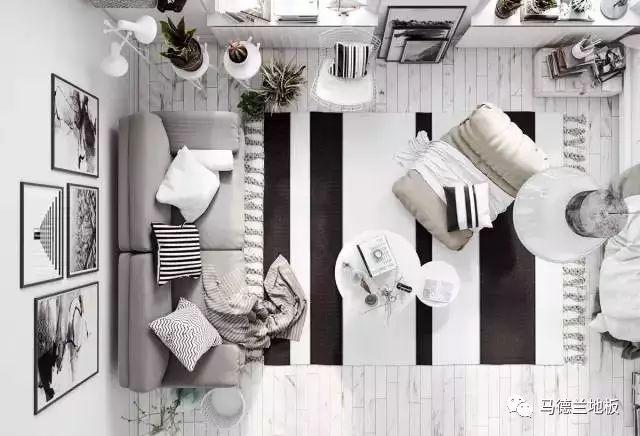 北欧风格搭配白色地板