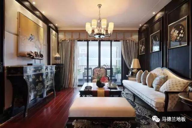 中式风格搭配深色木地板