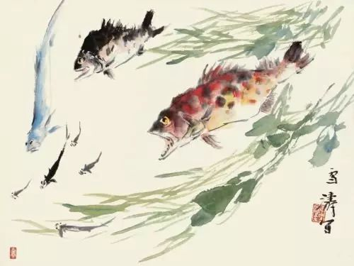 近代游鱼图