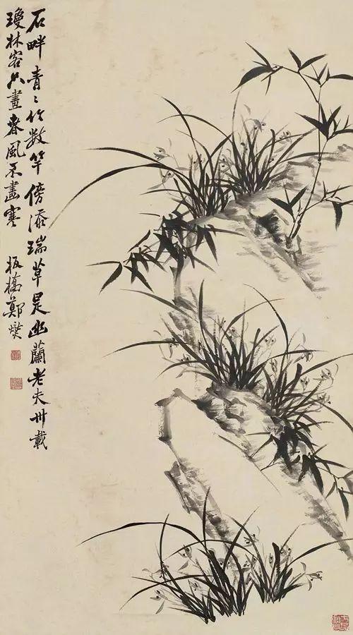 郑板桥画兰,画的是兰花的骨头!