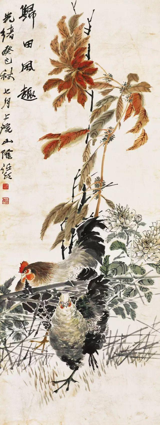 任伯年的花鸟画欣赏