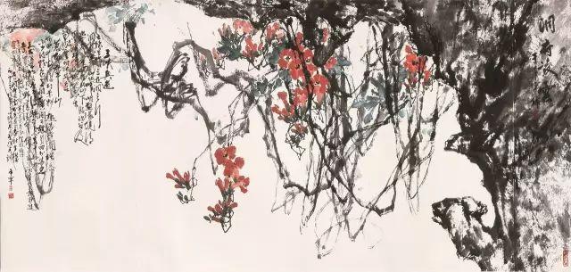于希宁笔下的花卉瓜果