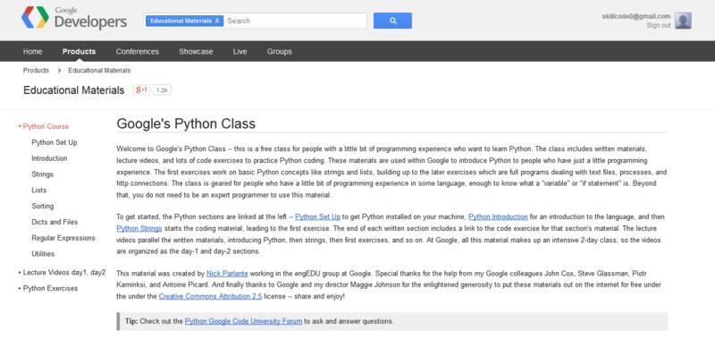 Python入门学习必备的19 个编程资源
