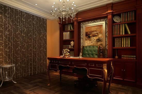 欧式书房装修·书房设计效果图