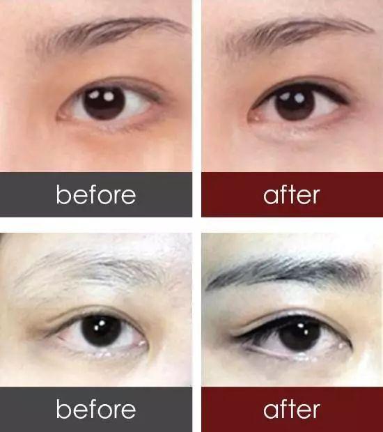 纹眼线效果图