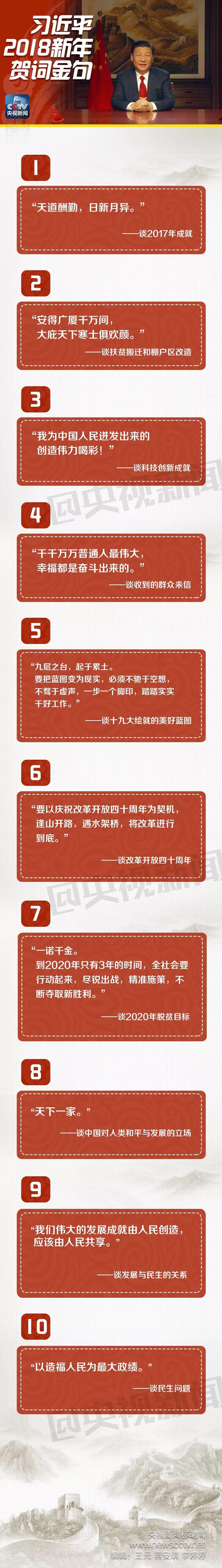 """习近平2018新年贺词中必学的10大""""金句"""" 新湖南www.hunanabc.com"""