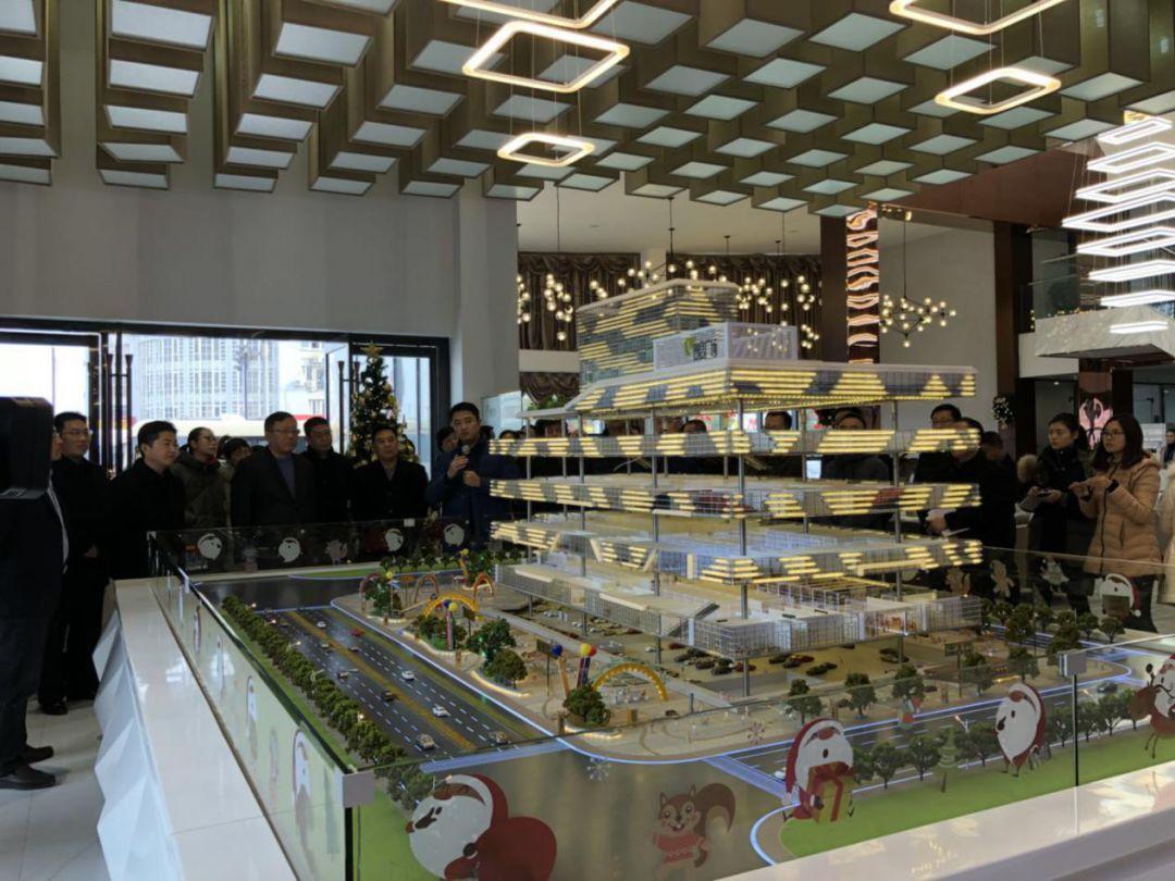 淮安市人大代表一行莅临视察淮安·曼度广场项目
