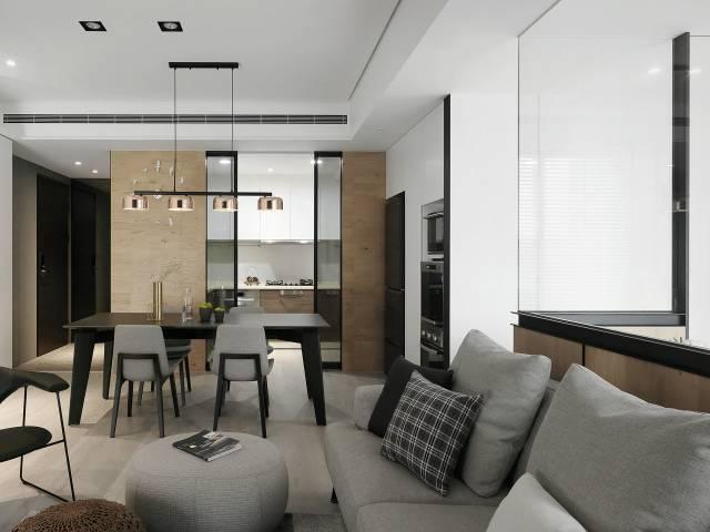 黑白灰色系客厅装修图 ·极简主义客厅装修图