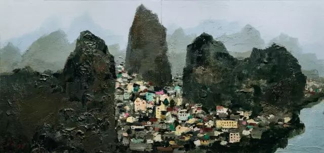 吴冠中千万作品