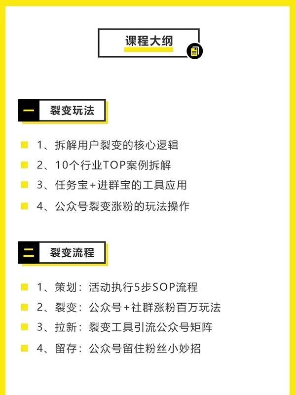 黃色邊框課程模板